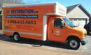 Disaster Restoration Van in Albany