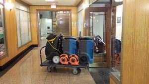 Water Damage Equipment at Job Site